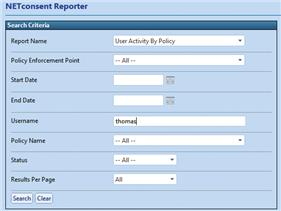 NETconsent Reporter is the on screen reporting tool enabling organisations to quickly check user status